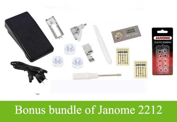 Bonus bundle of Janome 2212
