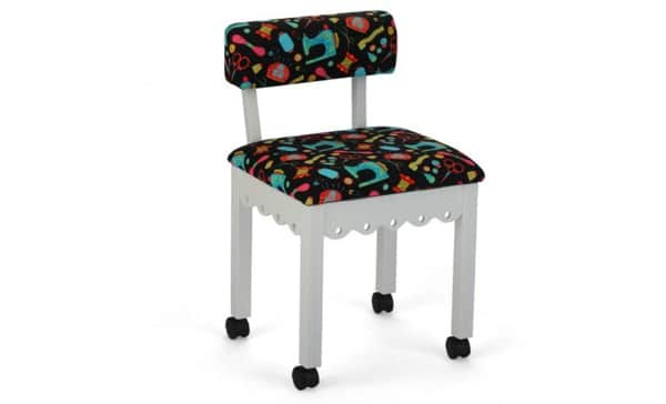 Arrow Sewing Cabinet Black Sewing Notions Chair