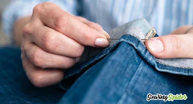sew a denim jeans by hand