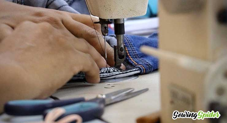 sew denim with a sewing machine