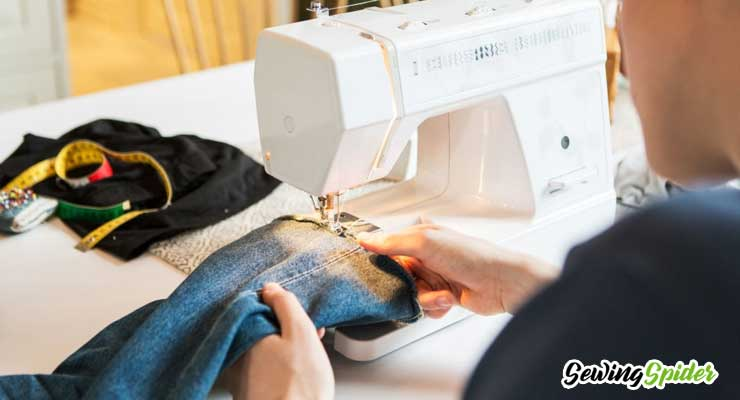 sewing denim jeans pant
