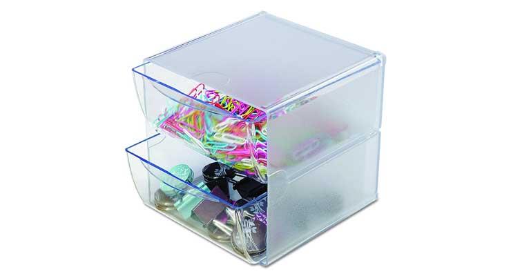 2-Drawer Craft Organizer Cube Full