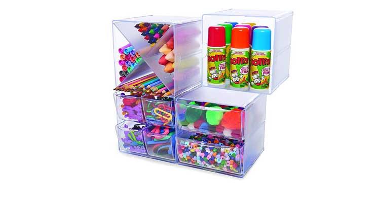 2-Drawer Craft Organizer Cube