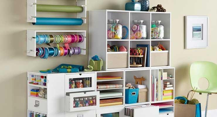 4-Shelf Craft Organizer Cube White