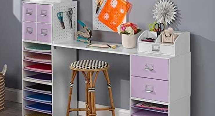 4-Shelf Craft Organizer Cube full