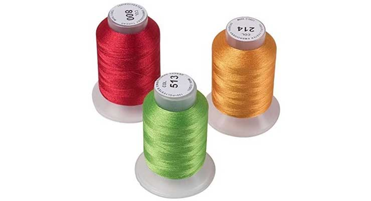 63 Brother Colors Embroidery Machine Thread Size
