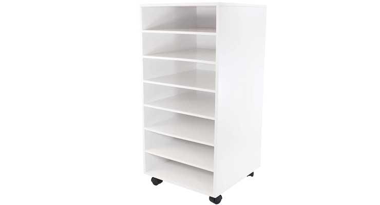 Ashland White Mobile Craft Storage Empty