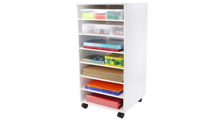 Ashland White Mobile Craft Storage Full