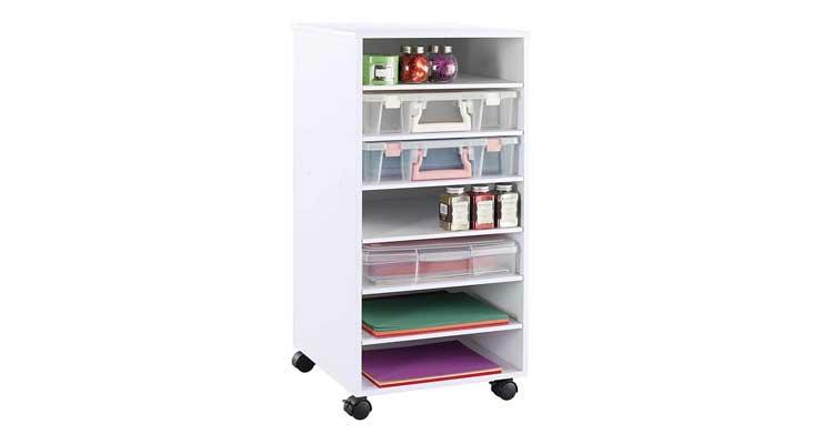 Ashland White Mobile Craft Storage