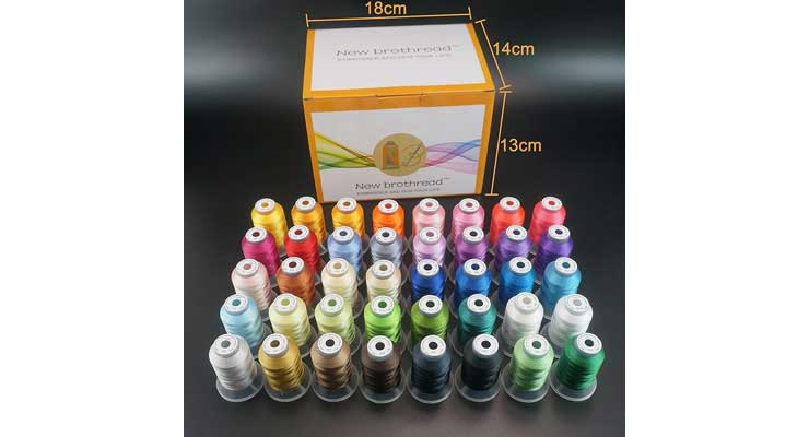 Brothread 40 Brother Colors Machine Thread Kit