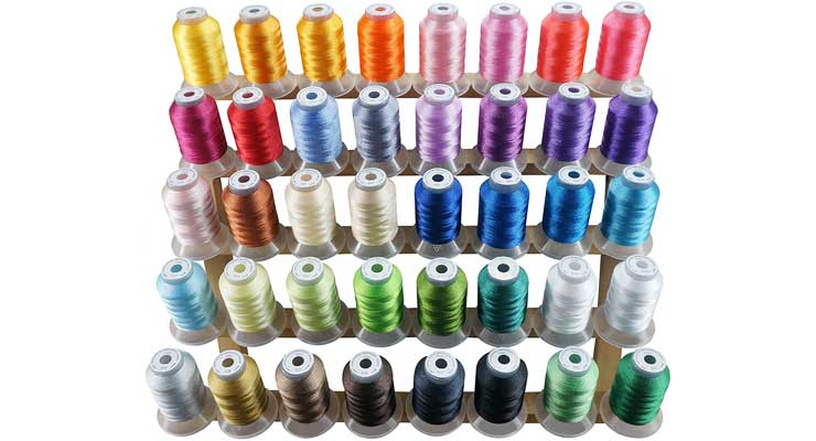 Brothread 40 Brother Colors Polyester Embroidery Machine Thread Kit