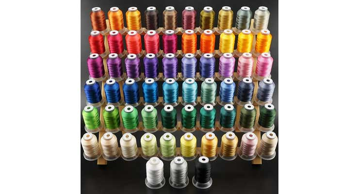 Brothread 63 Brother Colors Polyester Embroidery Machine Thread Kit