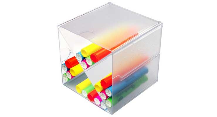 Multi-Shelf Craft Organizer Cube Box