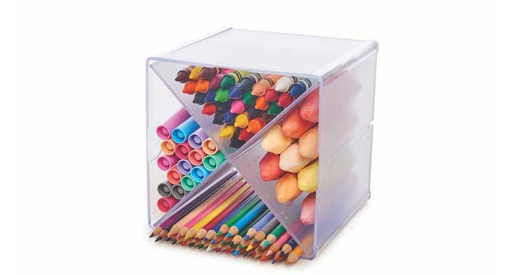 Multi-Shelf Craft Organizer Cube Shape