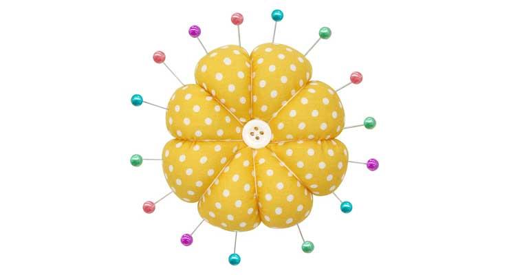 Pumpkin-Sewing-Pin-Cushions Yellow