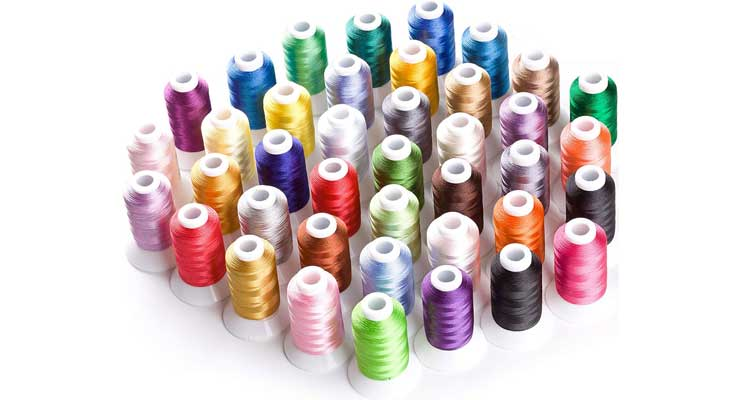 Simthread Brother 40 Colors Polyester Embroidery Machine Thread Kit