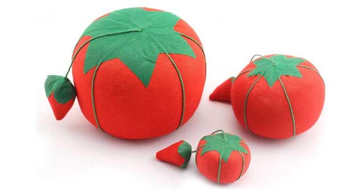 Tomato Shaped Needle Pin Cushion Pack