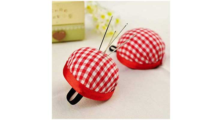 Wearable Sewing Pin Cushions Red