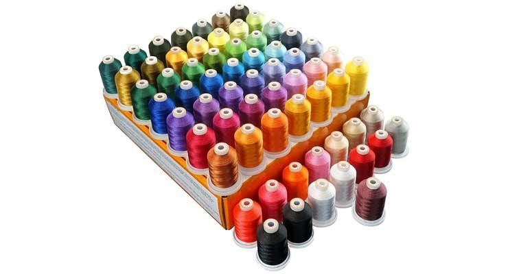 brothread 64 Spools 1000M (1100Y) Polyester Embroidery Machine Thread Kit
