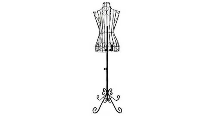 Adjustable- Mannequin Dress Form Female Black Steel Wire