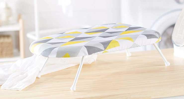 Amazon Basics Tabletop Ironing Board with Folding Legs