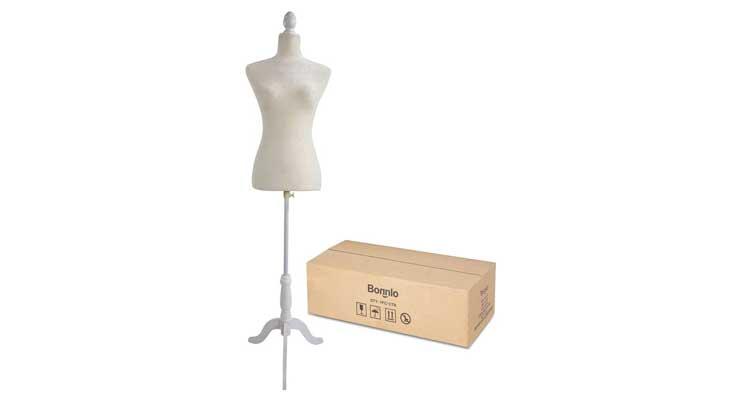 Bonnlo Female Dress Form Pinnable Mannequin Body Torso