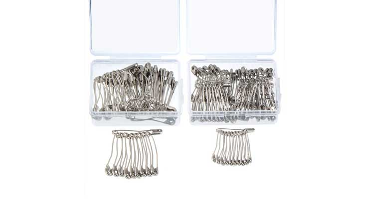 160 Pieces Curved Safety Pins Quilting