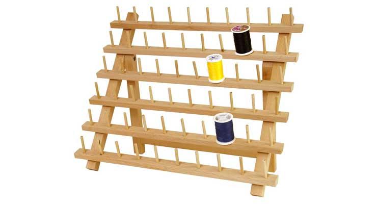 New brothread 60 Spools Wooden Thread Rack