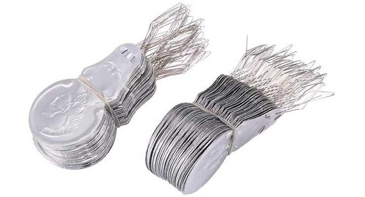 100x Silver Tone Wire Loop DIY Needle Threade