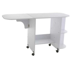 SEI Furniture Eaton Expandable Rolling Craft Station Sewing Table
