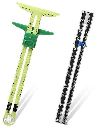 2 Pieces Sliding Gauge Measuring Sewing Tool