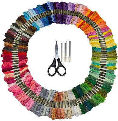 CRAFTYJACK Bulk Rainbow Pack Embroidery Floss - 125 Skeins