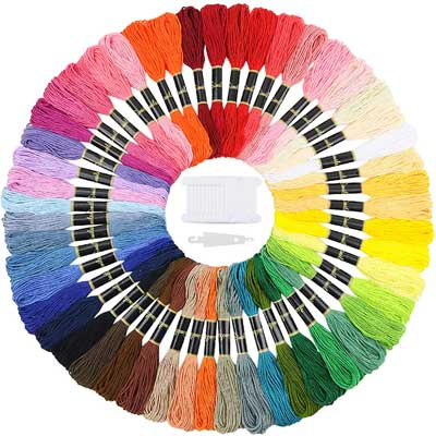 Similane Embroidery Floss 50 Skeins Cross Stitch Thread